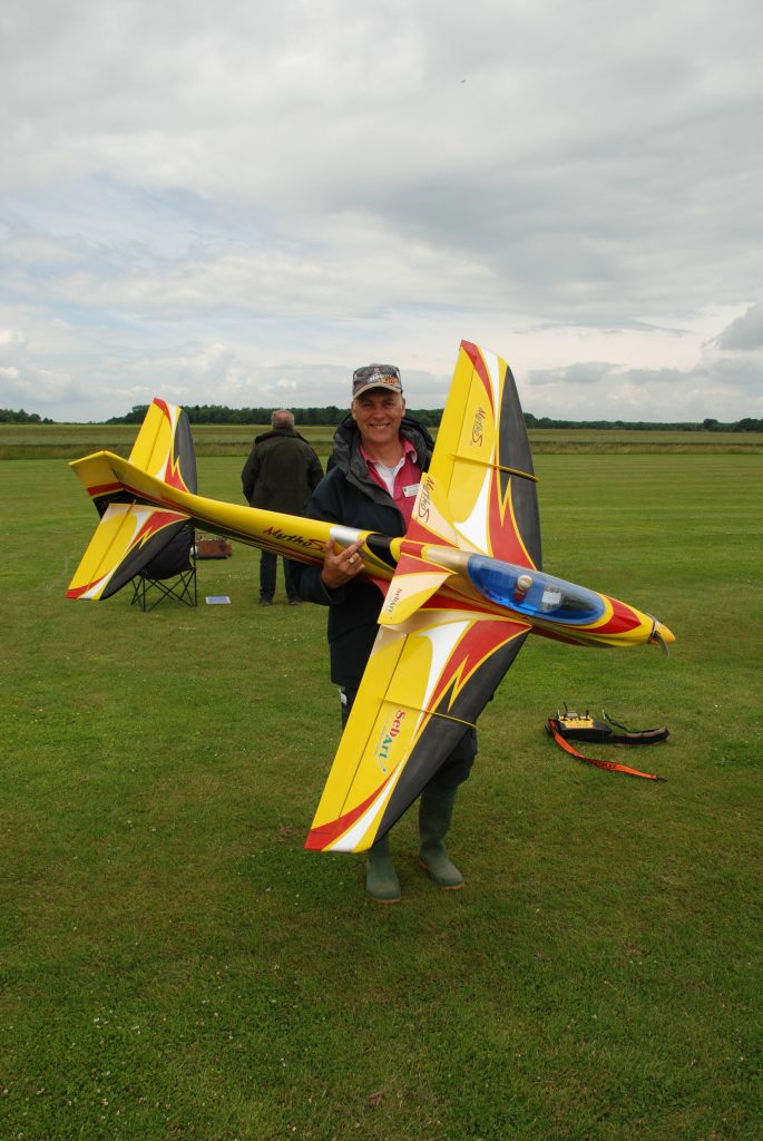 Mike Rieder with his Mythos 125
